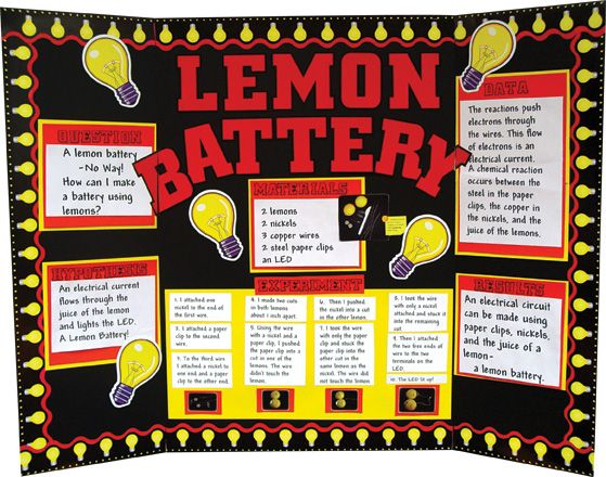 Lemon battery research paper